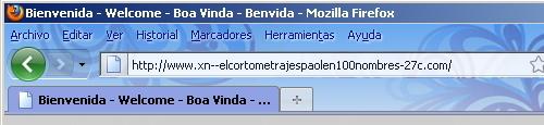 Navegador Firefox: un dominio con Ñ se ve sólo en PunyCode