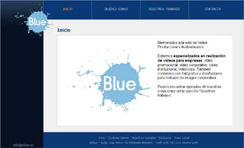 web de InBlue Producciones Audiovisuales