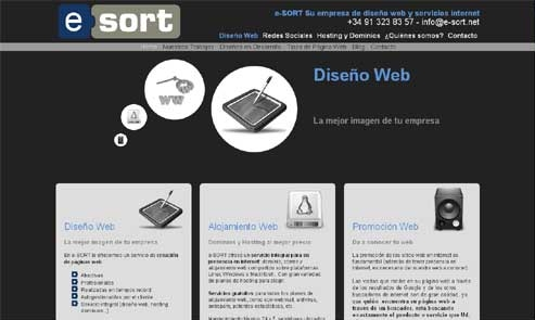 e-SORT diseño web madrid