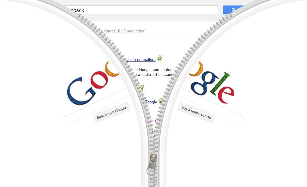 La cremallera de Google y Gideon Sundback