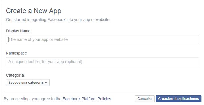 crear app en Facebook
