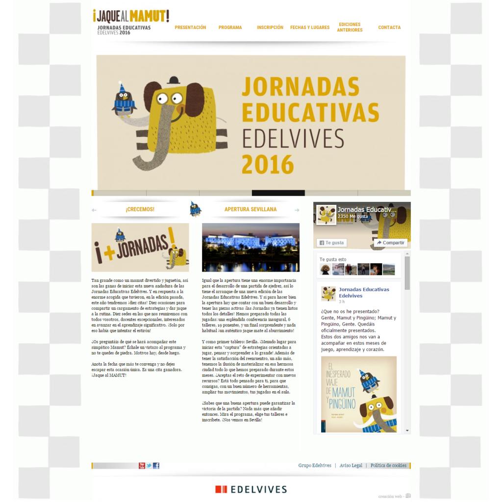 web de las jornadas Edelvives de 2016