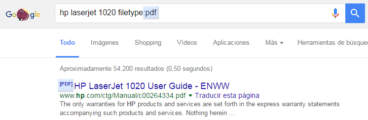buscar en google - filetype