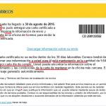 La carta certificada de Correos y los ransomware