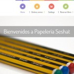 Nueva página web para papelería Seshat
