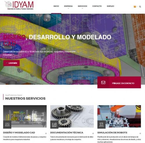 Nuevo diseño web para la empresa de ingeniería IDYAM