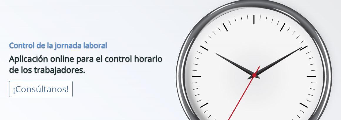 Control horario jornada laboral trabajadores