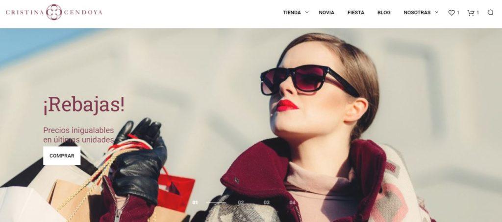 La tienda de vestidos de fiesta Cristina Cendoya, apuesta por el e-commerce