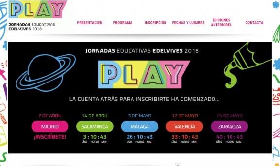 Diseño de la página web de Jornadas Educativas Edelvives