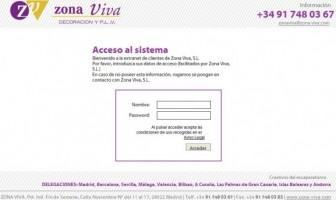 Diseño de la página web de Zona Viva