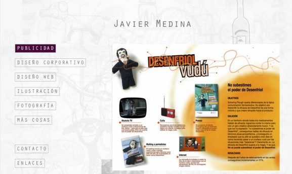 Diseño de la página web de Javier Medina del Palacio